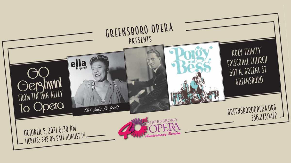 """Go Gershwin """"ticket"""" design"""